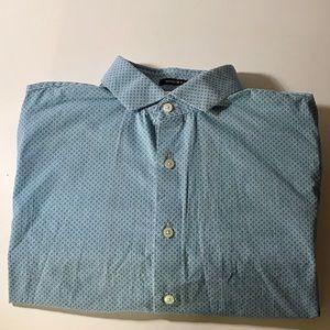 Express light blue pattern dress shirt 16-16 1/2.